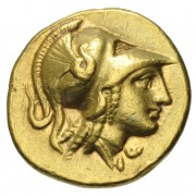 Gold 80 litrae of Agathokles of Sicily