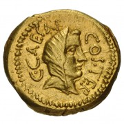 Gold aureus depicting Vesta