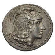 head of Athena wearing a triple-crested