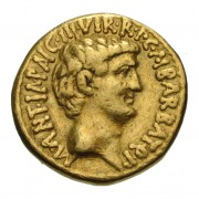 Gold aureus of Mark Antony