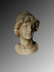 Marble over-life size head of Alexander the Great