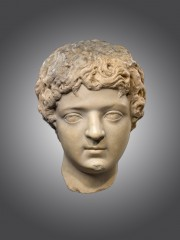 Marble portrait head of Caracalla