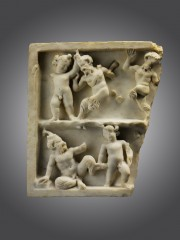 Roman marble relief fragment