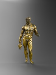 Gilded bronze statuette of Mercury