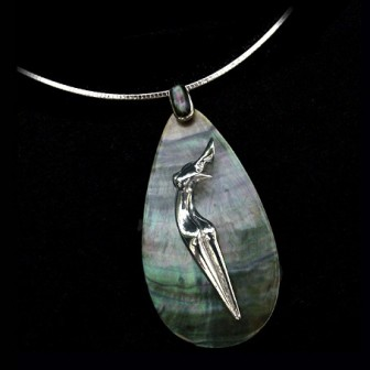 Silver on shell Nina necklace